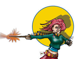 Tonks against the circle by Pencilbags