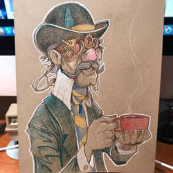Steampunk Tea Time by Pencilbags