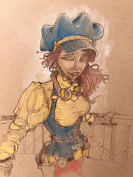 Steampunk sketch by Pencilbags