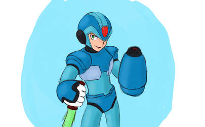X from Megaman X series by Kairuin