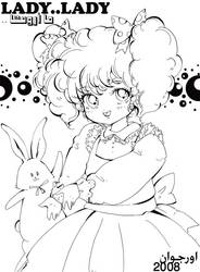 colouring page 8  LADY LADY by orjoowan-art