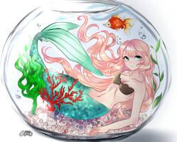 Mermaid in a fishbowl by Chiyuki1