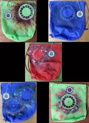 80's Eyes:  Seen and Felt draw-sting bags by truth-n-vacancy