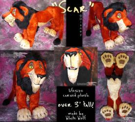 LIFESIZE SCAR PLUSH by whitewolf
