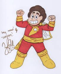 Steven is Captain Marvel/Shazam autograph by KingGlory