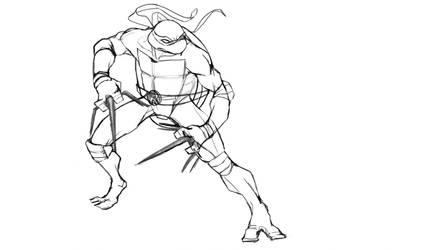 Ninja turtles Rafael Line by skechitYAS
