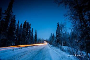 Snowy Road by sergey1984