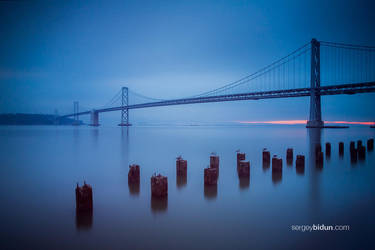 Early sunrise at Bay Bridge by sergey1984