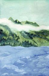 Quadra Island - Water I by Vidyala