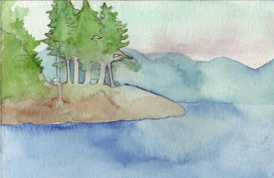 Quadra Island - Water II by Vidyala