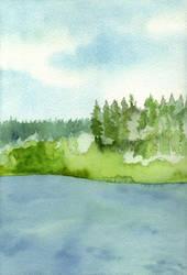 Village Bay Lake II by Vidyala
