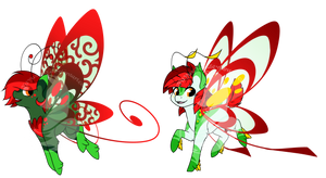 Holiday Darter Set - Holly and Poinsettia Themes by FuyusFox