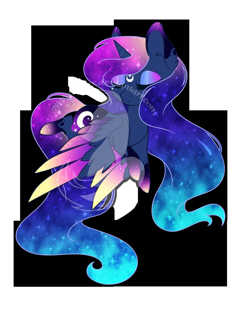 Rainbow Power Chibi Redux Princess Luna By Fuyusfox On