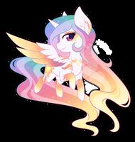 Rainbow Power Chibi Redux - Celestia by FuyusFox
