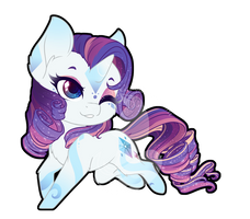 Rainbow Power Chibi Redux - Rarity by FuyusFox