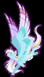 Commission - Rainbow Power Wind Blade by FuyusFox