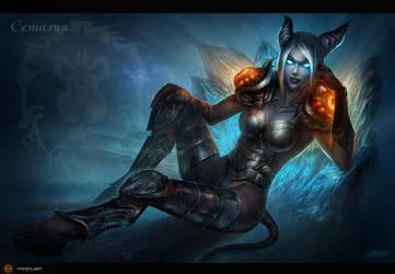 Draenei - Death Knight by TamplierPainter