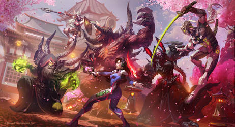 Hanamura showdown by TamplierPainter