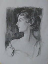Study aftet Sargent' Mrs. Richard D. Sears portrai by sergey-ptica