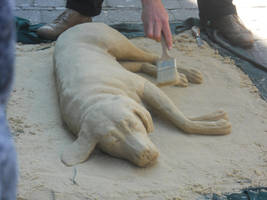Dog made out of sand by HezuNeutral
