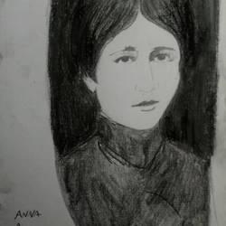 Young anna akhmatova by EDUARDOOREJUELA