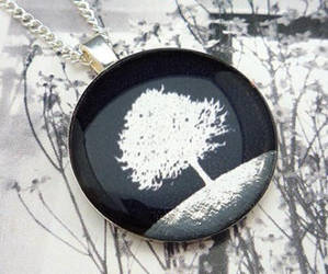 Silvery Tree Silhouette Black by luminarydreams