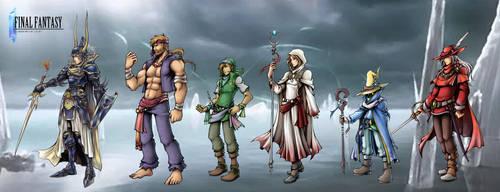 Final Fantasy I: Warriors of Light by isaiahjordan
