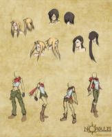 Novalis: Female Character Concepts by isaiahjordan