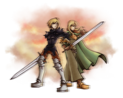 Commission: Ramza And Milleuda by isaiahjordan