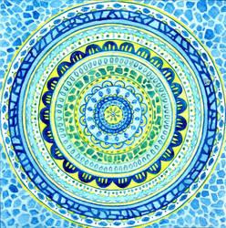 Watercolor mosaic by Sophia756
