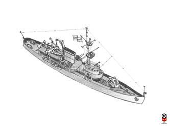 Patrol ship by YuryMilovidov