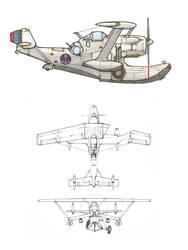 Observation seaplane by YuryMilovidov