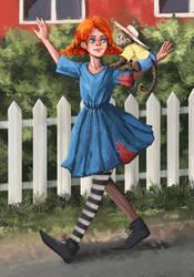 Pippi Longstocking by fcnjt
