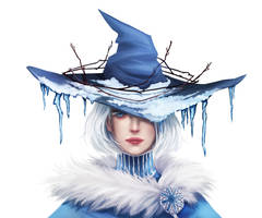 Seasonal witch - Winter || with painting process by fcnjt