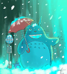 Snow Totoro by elangilman