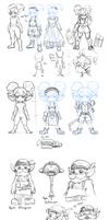 Some Yordles Sketch by Nestkeeper