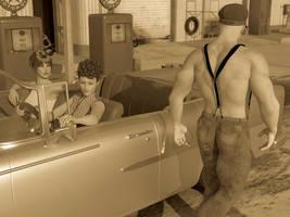 The petrol pump attendant by Mickytroisd