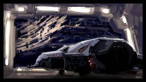 Space debris hangar by MK01