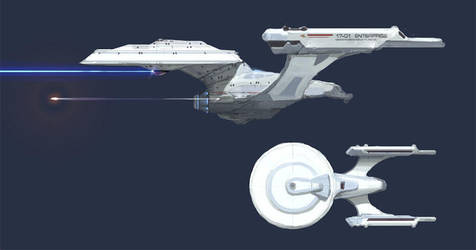 Redesign: Kirk's Enterprise by MK01