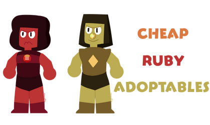 CLOSED   Cheap Ruby Adoptables by CarouselKid