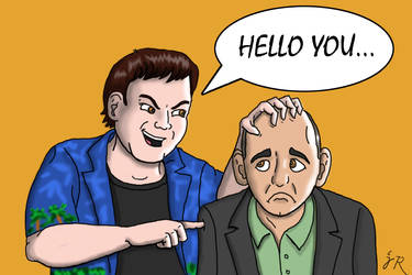 Guru Larry and Peter Molyneux by CartoonistJack
