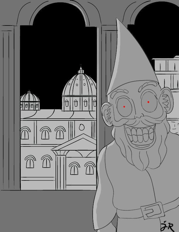 Gnome in Rome by CartoonistJack