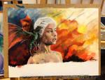 Daenerys Targaryen and Drogon - Game of Thrones by Mirish
