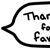 Thank You Favorite 1 Speech Bubble - Beemote