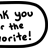 Thank You Favorite 2 Speech Bubble - Beemote