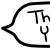 Thank You 1 Speech Bubble - Beemote