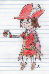 Embla the Red Mage by Zecarius