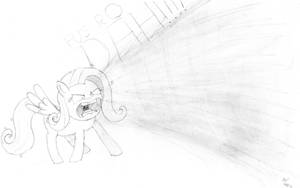 Fluttershy Takes Charge by baratus93