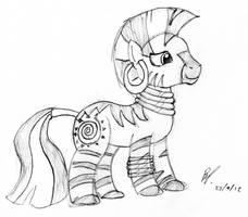 Ponyville's Favourite Zebra by baratus93