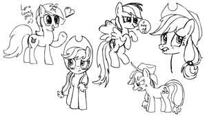 Pony Sketch Practising by baratus93